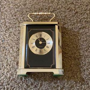 Vintage ELGIN Carriage DESK MANTLE CLOCK Quartz